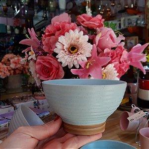 Bowl Cerâmica Azul Claro Romance 500ml Jogo c/2 unidades