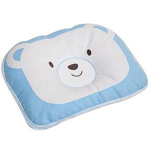 Travesseiro para Bebê Moleira Ursinho Azul Buba