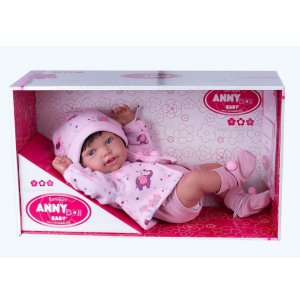 Boneca Cotiplás Anny Baby Morena com Cabelo