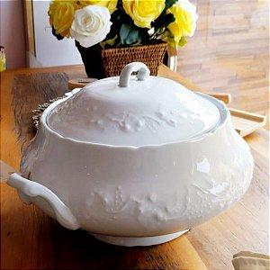 Sopeira Porcelana Wolff Branca Limoges Vendange 4,4 litros