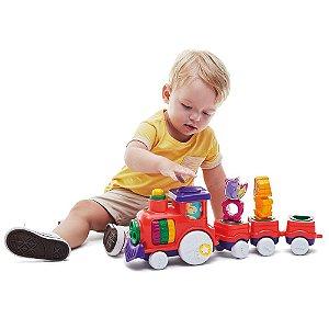Brinquedo Didático Zoo Trem Tateti