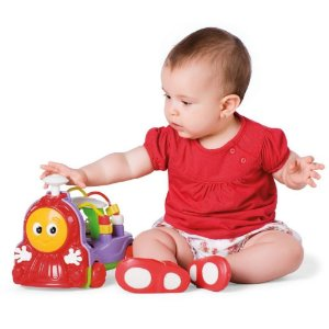 Brinquedo Educativo Donka Trem Tateti com Som - Sacola