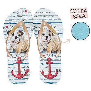 Chinelo Rafitthy Cachorro Bulldog Sailor