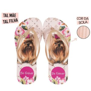 Chinelo Rafitthy Cachorrinho York BF Monograma