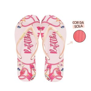 Chinelo Feminino Rafitthy Pink Blossom