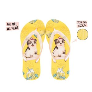 Chinelo Infantil Rafitthy Cachorrinho Shitzu Lemonade