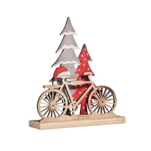 Enfeite de Mesa Natal Bicicleta Wood Mood Cromus