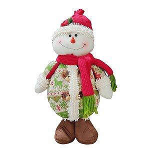 Boneco de Neve Decorativo Malha de Rena Smile 40cm
