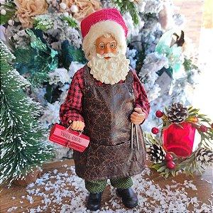 Papai Noel Decorativo Edição Colecionador Mecânico 27cm
