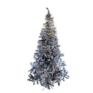 Árvore de Natal 2,10m Flocada Branca
