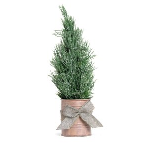 Mini Árvore de Natal de Mesa Lata Cinza 32cm