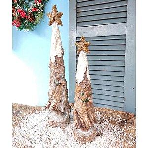 Jogo Árvore de Natal em Resina com Glitter 2 unidades