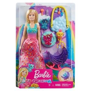 Boneca Barbie Dreamtopia Dia de Pets Babá de Dragões Bebês