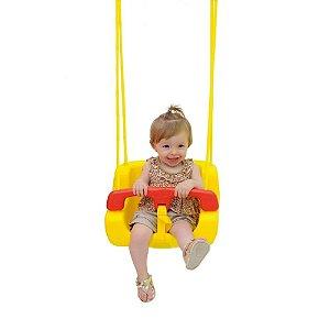 Balanço Infantil Xalingo Amarelo com Encosto