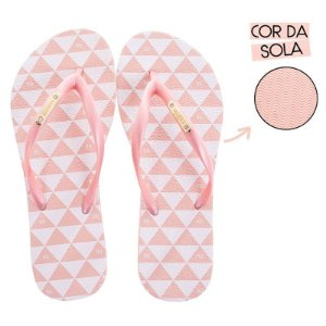 Chinelo Feminino Rafitthy TRIANGLE COLORS LIGHT ROSE
