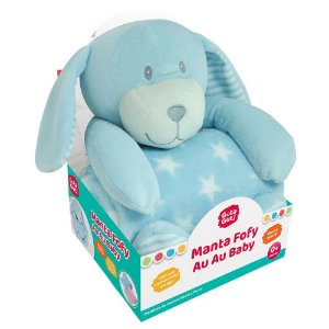 Kit Manta Fofy Au Au Baby com Cachorrinho Azul