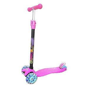 Patinete Radical DM Toys com Luz na Roda 40kg Rosa