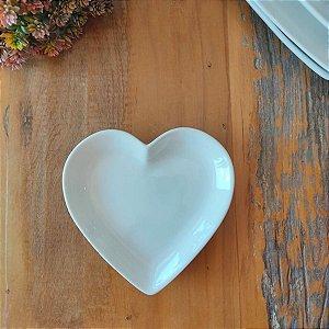 Prato de Coração Branco P 14,5 cm