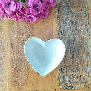 Bowl Coração Cerâmica Branco M 16,7 cm