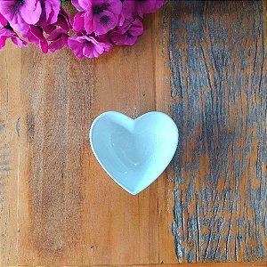 Bowl Coração Cerâmica Branco P 12 cm