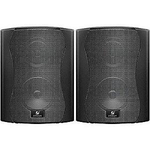 Caixa acústica Som Ambiente PS4 Plus Preta 40w  Frahm - o Par