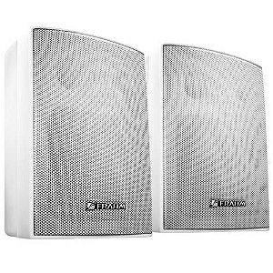 Par De Caixas Acústicas Ps200 Plus 30W RMS Para Som Ambiente Branca