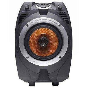 Caixa Amplificada Bluetooth MultiUso Nks Pk550 100w Rms Radio Fm Entradas Microfone Usb Sd