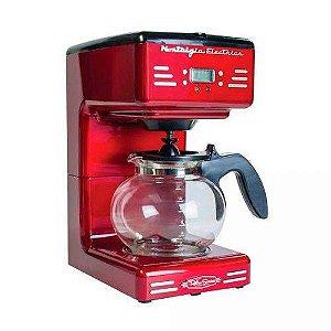 Cafeteira Elétrica Nostalgia Retro, Vermelho Rcof120 Capacidade Para 12 Xícaras 127v