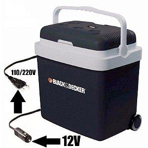 Mini Geladeira De Viagem 33 L Black E Decker Bdc33l 12V  Bivolt
