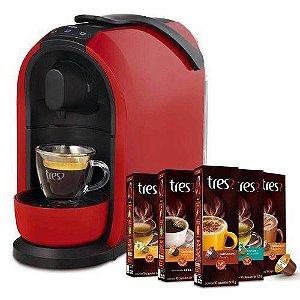 Cafeteira Expresso Três Corações Mimo Automática Vermelha 110v + 50 Cápsulas