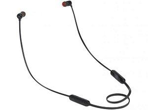 Fone de ouvido Jbl In Ear T110BT Bluetooth c/ Microfone e Controle Remoto Preto
