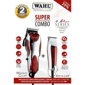 Wahl Super Combo Magic Clip 127v + Detailer Bivolt