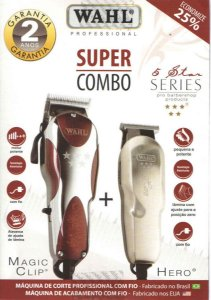 Kit Wahl Combo Magic Clip 127v + Wahl Hero Bivolt Star Series