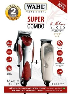 Kit Wahl Combo Magic Clip 220v + Wahl Hero Bivolt Star Series