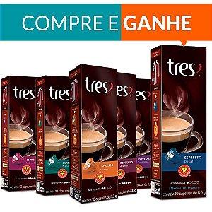 Cafeteira espresso Três Coracoes Versa Vermelha 127v + 60 Cápsulas Tres Coracoes