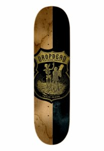 SHAPE DROP DEAD SK8 IS LIFE WOOD BLACK