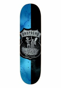 SHAPE DROP DEAD SK8 IS LIFE BLUE BLACK