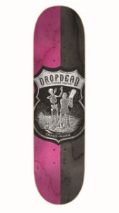 SHAPE DROP DEAD SK8 IS LIFE PINK BLACK