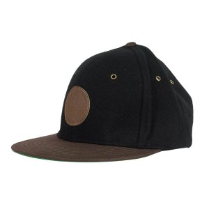 BONÉ CREATURE ARROWS BLACK BROWN FIVE PANEL STRAPBACK