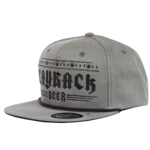 BONÉ LAY BACK SNAPBACK BASIC 3 CINZA