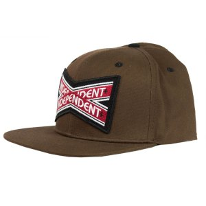 BONÉ INDEPENDENT INTERSECT BROWN SIX PANEL SNAPBACK