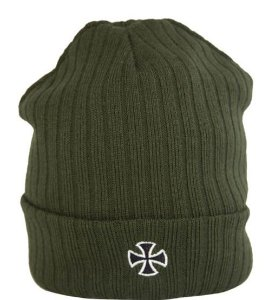 GORRO INDEPENDENT CROSS RIBBED VERDE OLIVA