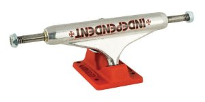 TRUCK INDEPENDENT 139 STG 11 BAR CROSS SILVER RED STANDARD
