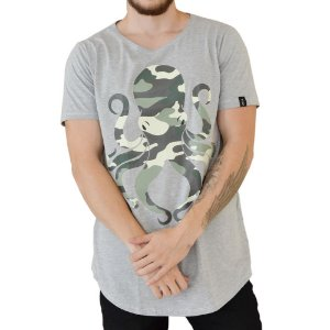CAMISETA R23BR LONG OCTOPUS MILITARY MESCLA