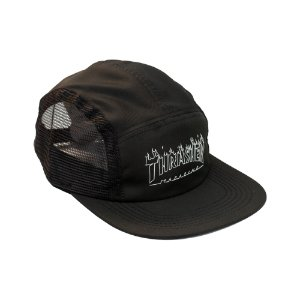 BONÉ THRASHER FLAME OUTLINE FIVE PANEL BLACK