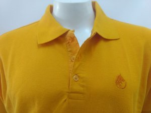 Polo Masculina Amarelo Ouro Detalhe Amarelo Lobo Cekock