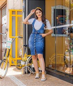 Salopete Jeans com Botões - 1330