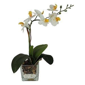Orquídea Branca no Vaso - 34cm