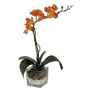 Orquídea Laranja - 34cm