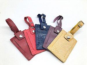 Tag para mala  em couro legítimo cores variadas